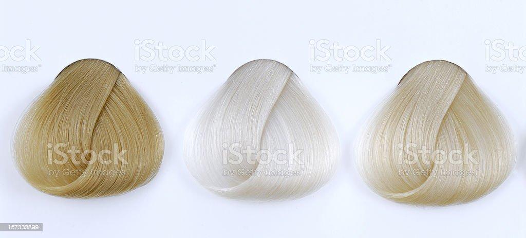 blonde hair sample royalty-free stock photo