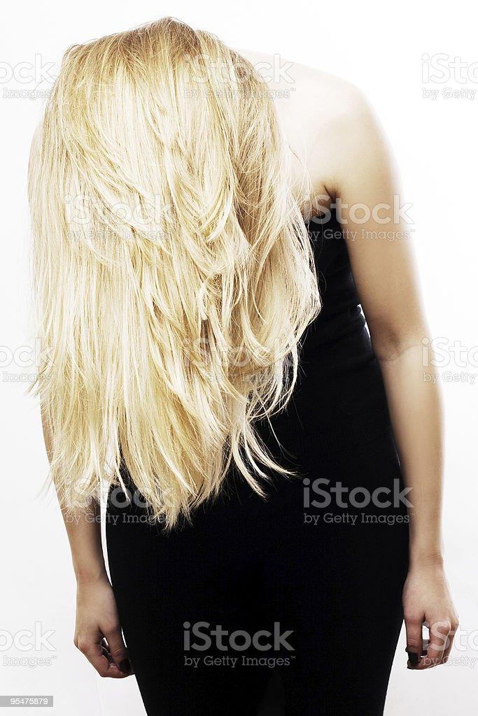 Alma de mujer joven rubia foto de stock libre de derechos