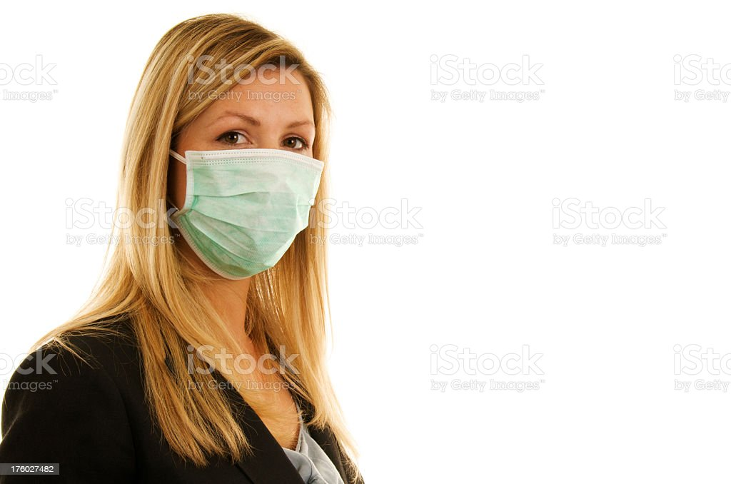 Blonde in mask royalty-free stock photo
