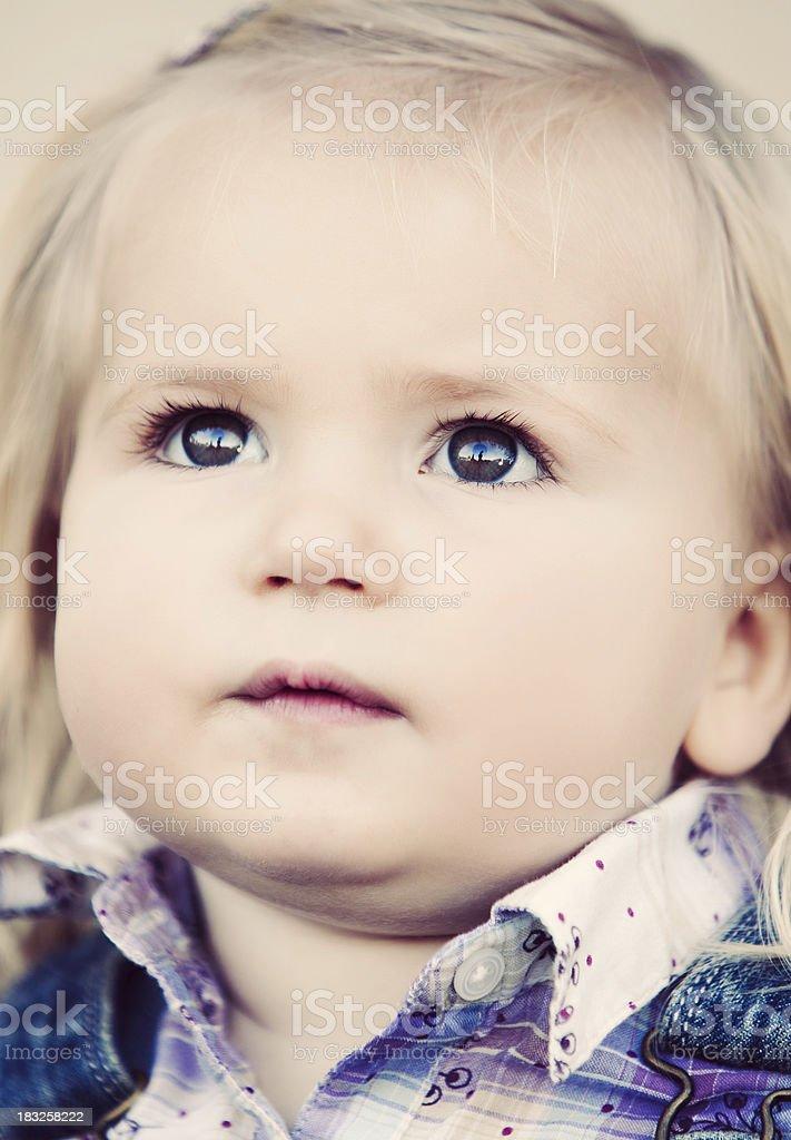 Blonde Little Girl stock photo