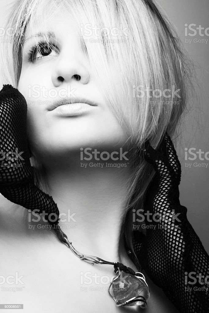 Blonde model posing royalty-free stock photo