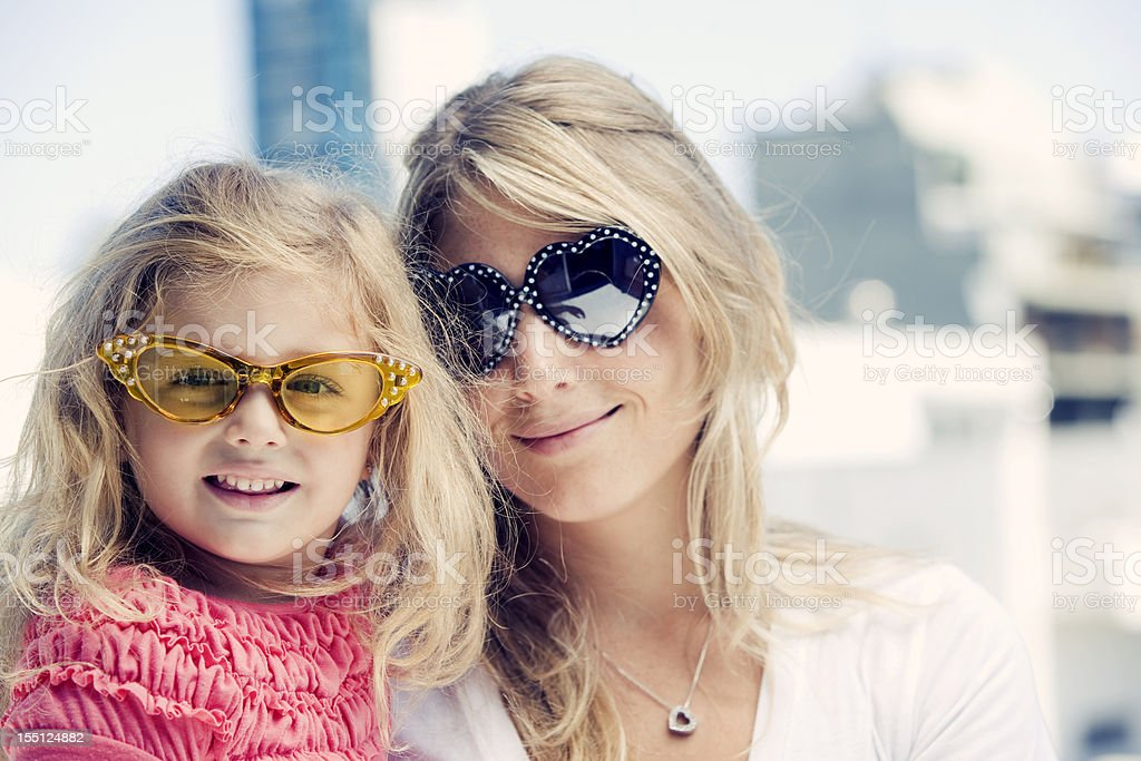 Blonde Mother and Daughter royalty-free stock photo