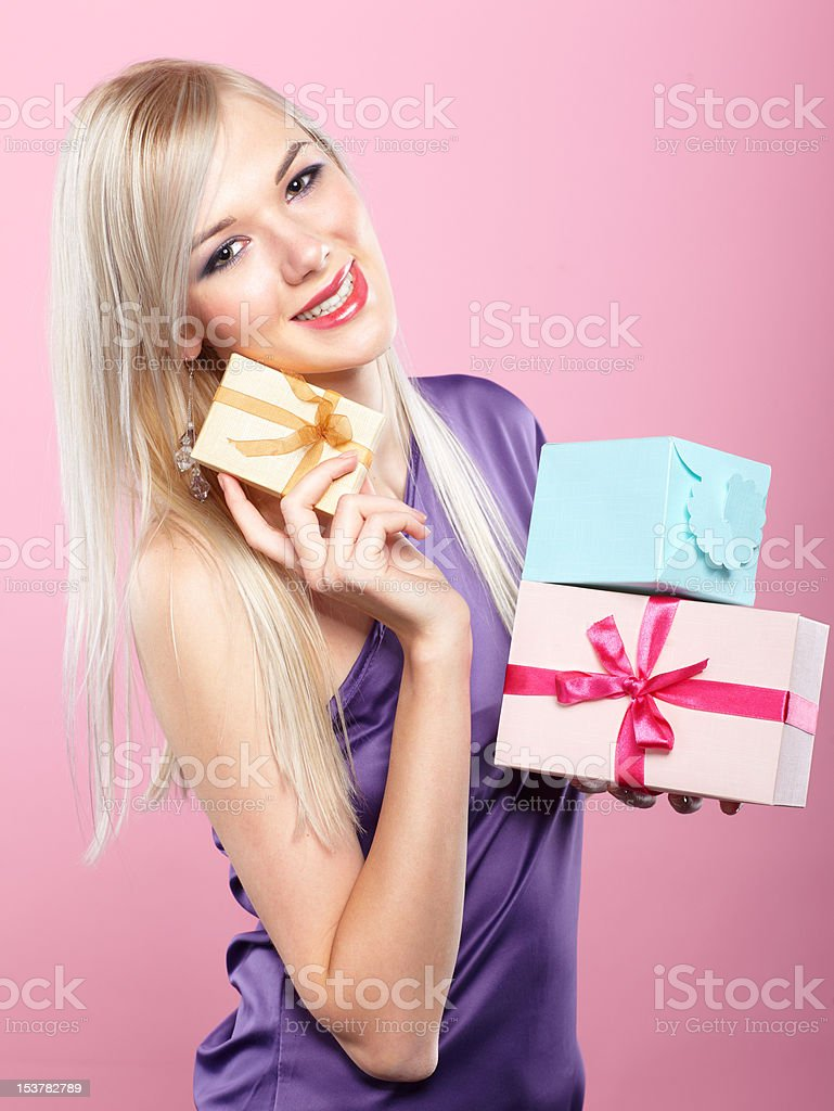 blonde party girl royalty-free stock photo