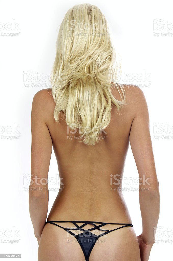 Blonde (back view) royalty-free stock photo