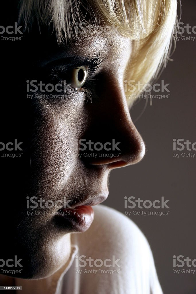 Blonde portrait 15 royalty-free stock photo