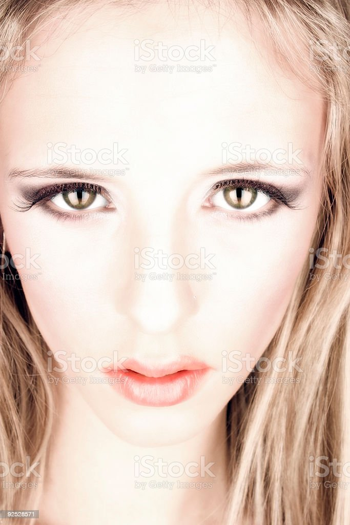 Blonde portrait 1b royalty-free stock photo