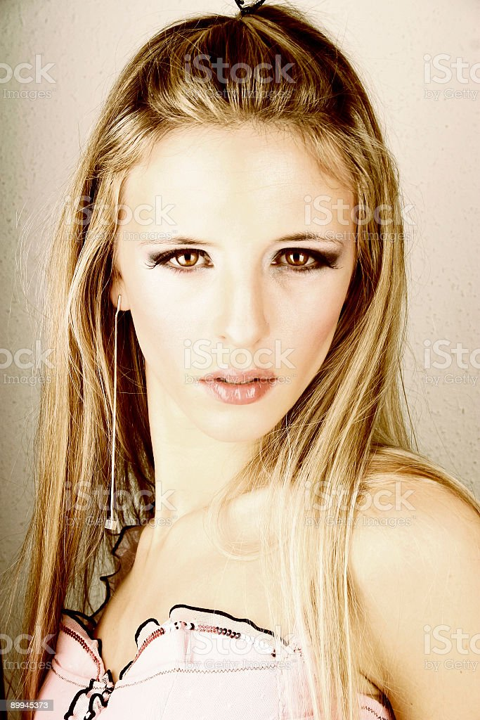 Blonde portrait 4b royalty-free stock photo