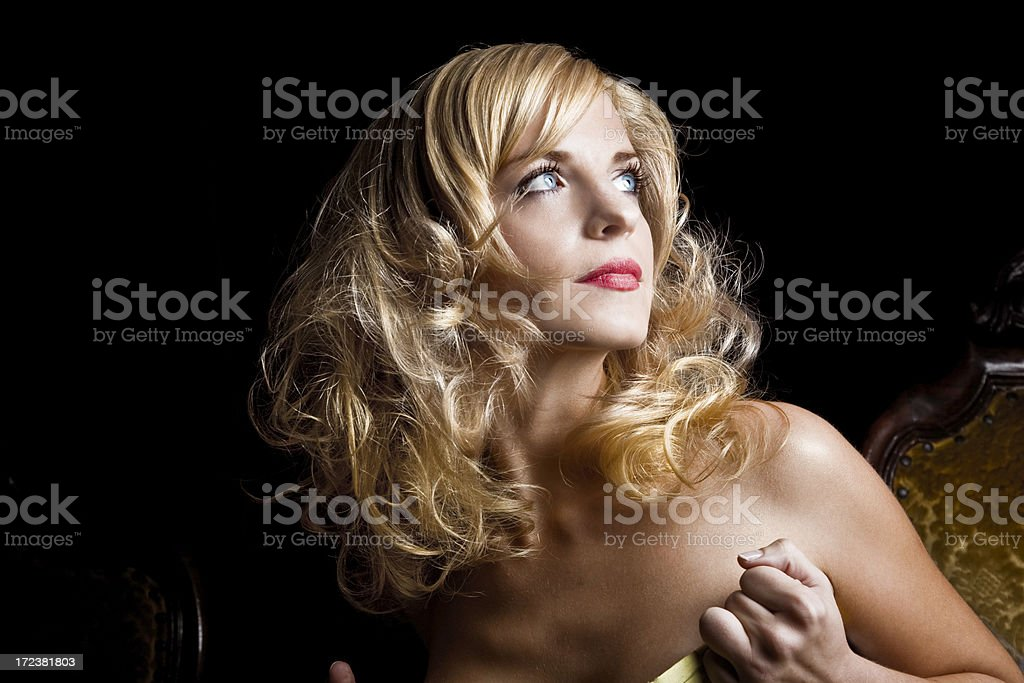 Blonde portrait royalty-free stock photo