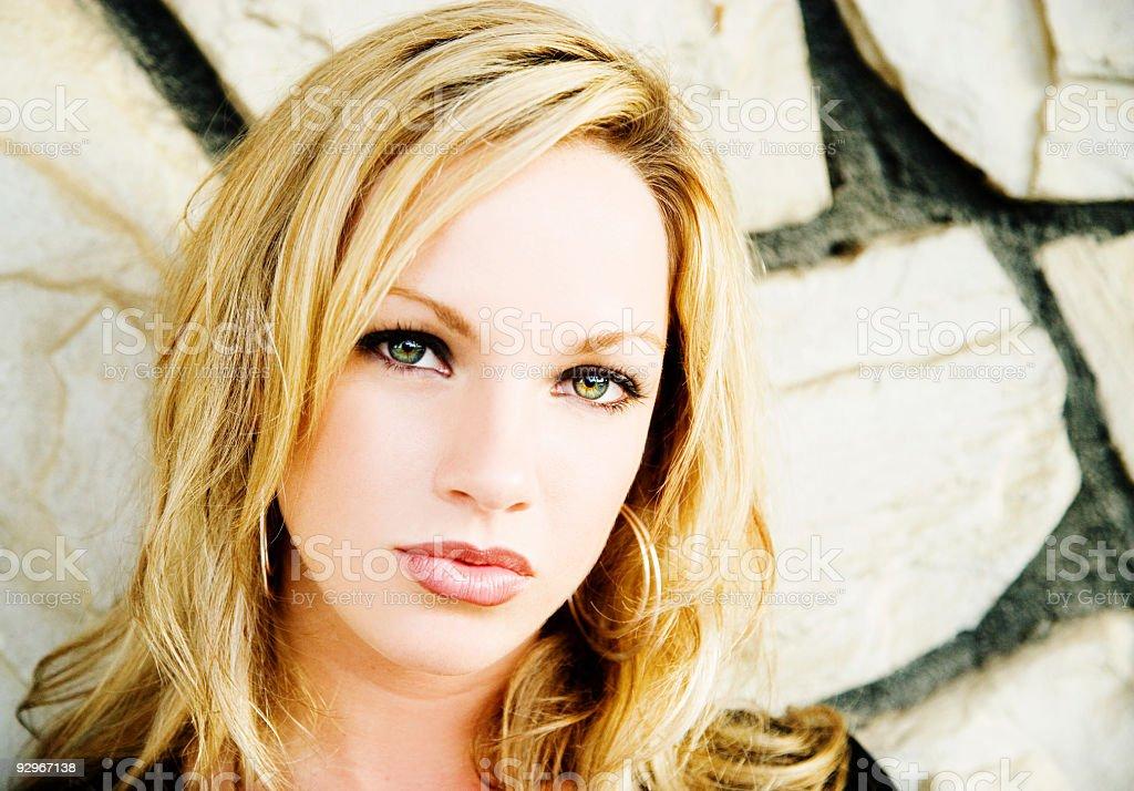 Blonde Portrait royalty-free stock photo