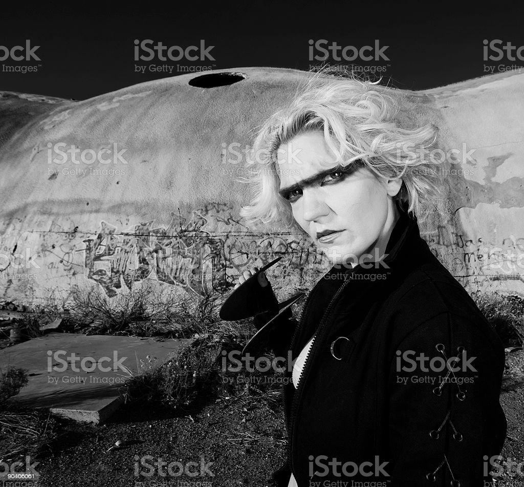 Blonde Science Fiction Model royalty-free stock photo