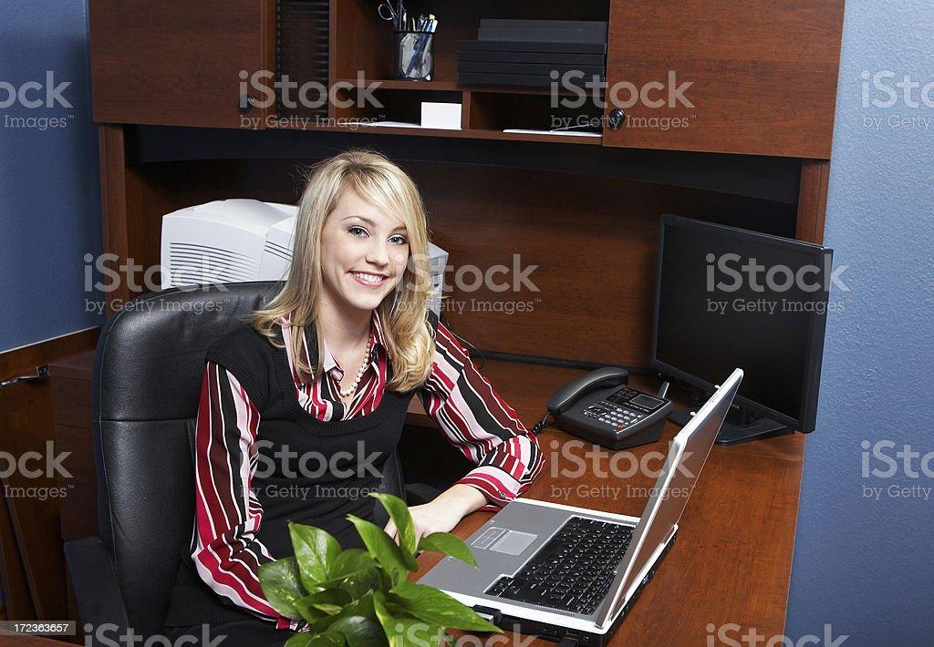 Blonde secretary royalty-free stock photo