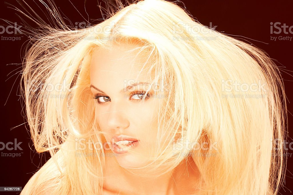 Blonde sexy woman # 07 royalty-free stock photo