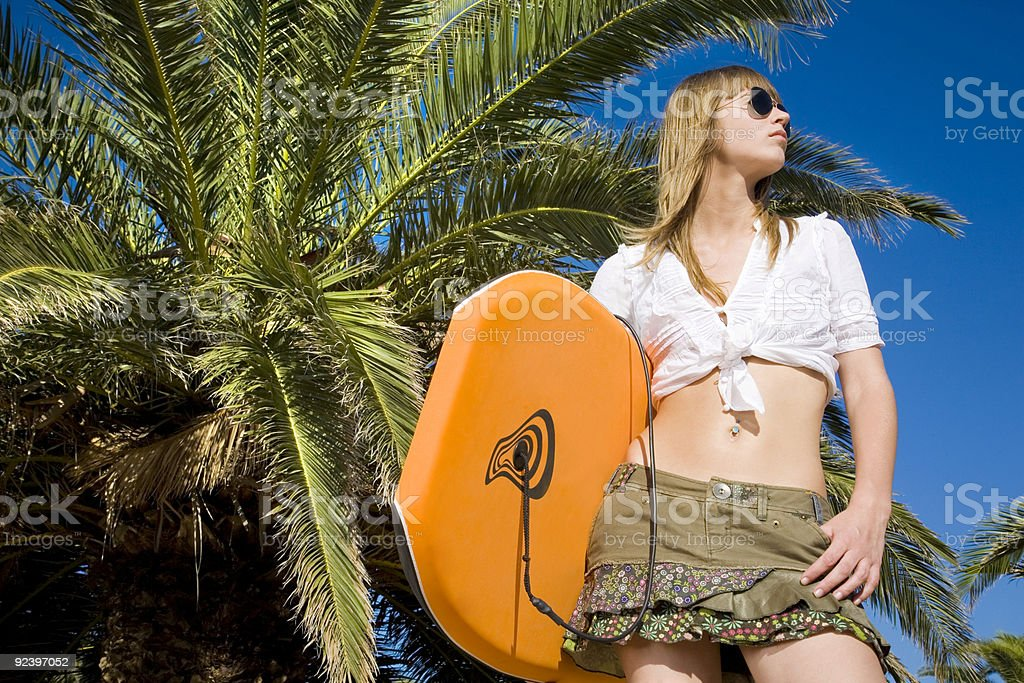 Blonde surfer royalty-free stock photo