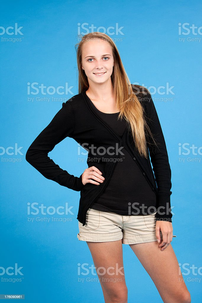 Blonde Teenager stock photo
