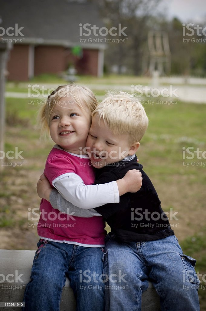 Blonde Twins royalty-free stock photo