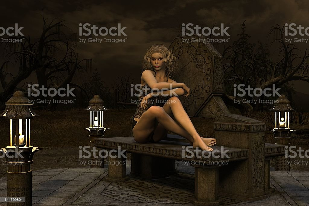 Blonde Witch royalty-free stock photo