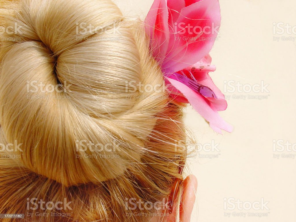 Blonde with flower royalty-free stock photo