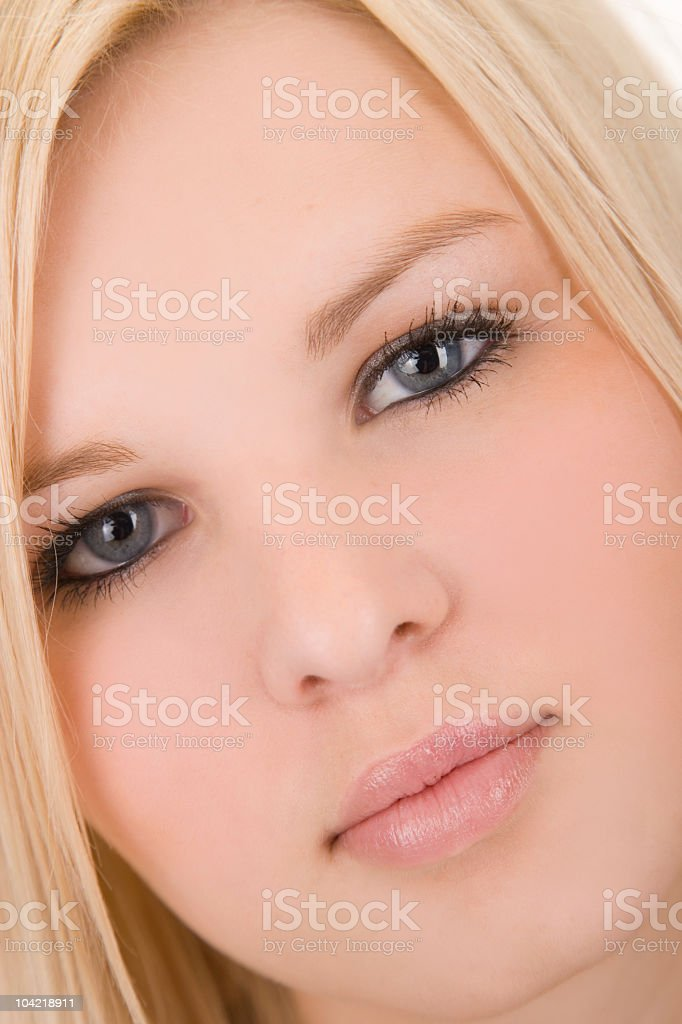 Blonde Woman / Close Up royalty-free stock photo