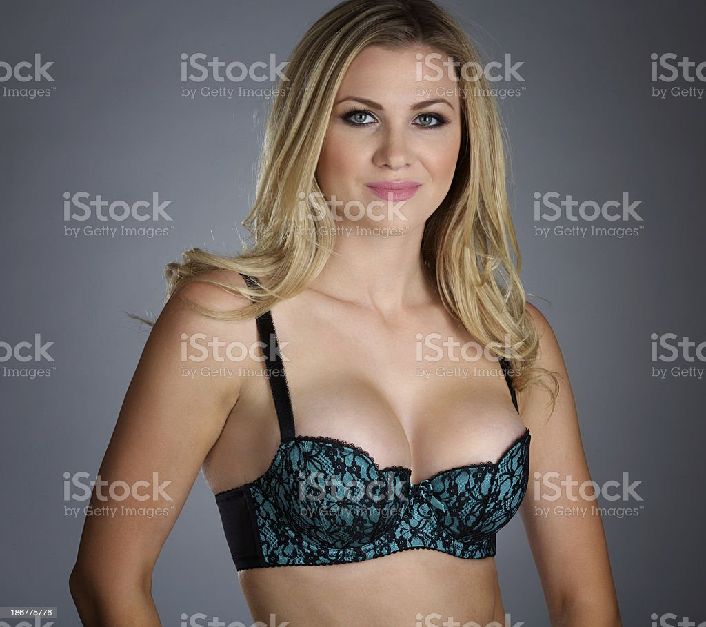 Blonde Woman In Bra royalty-free stock photo