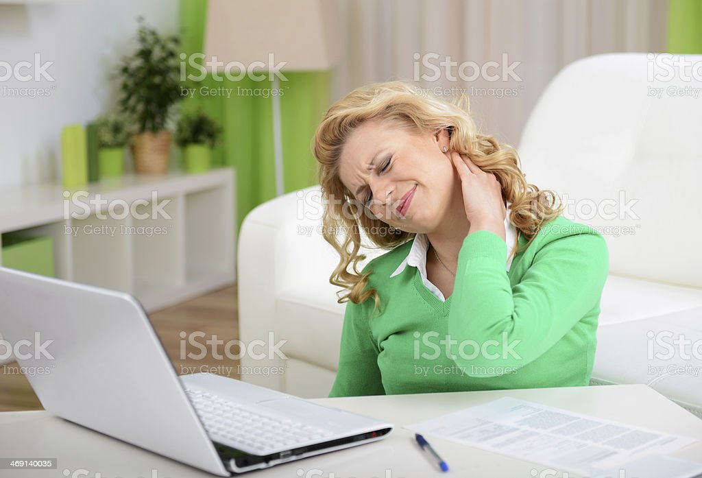 blonde woman in home interior royalty-free stock photo