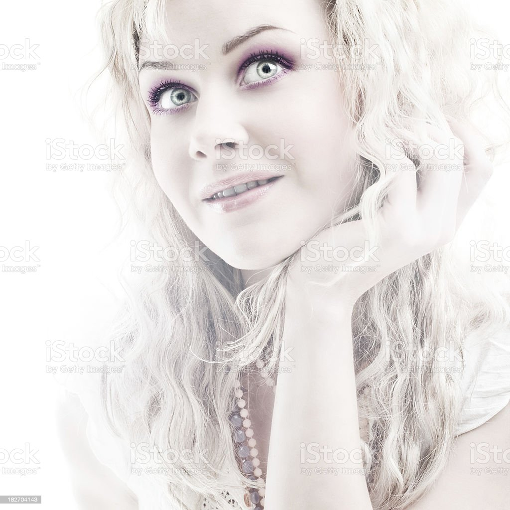 Blonde woman royalty-free stock photo