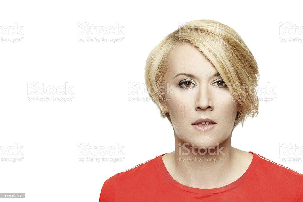 Blonde woman portrait royalty-free stock photo