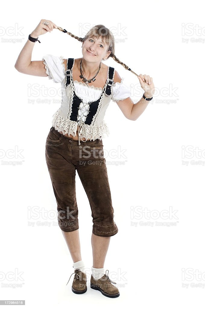 Blonde Woman with braids stock photo