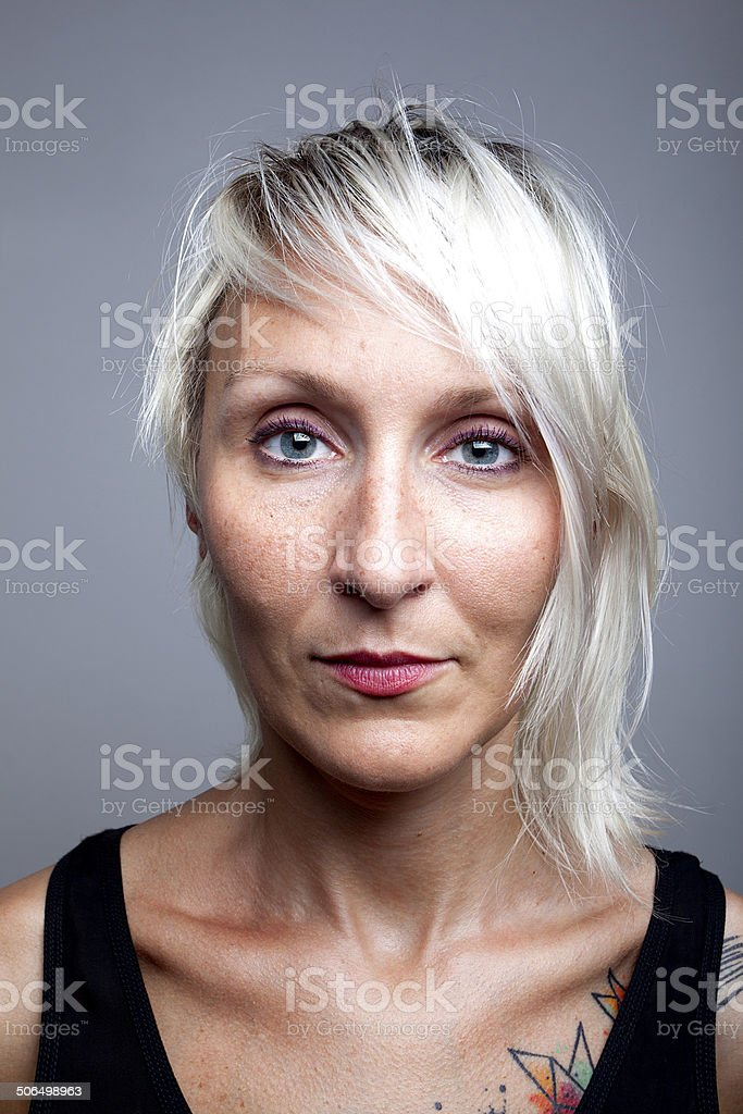 Blonde Women Portrait stock photo