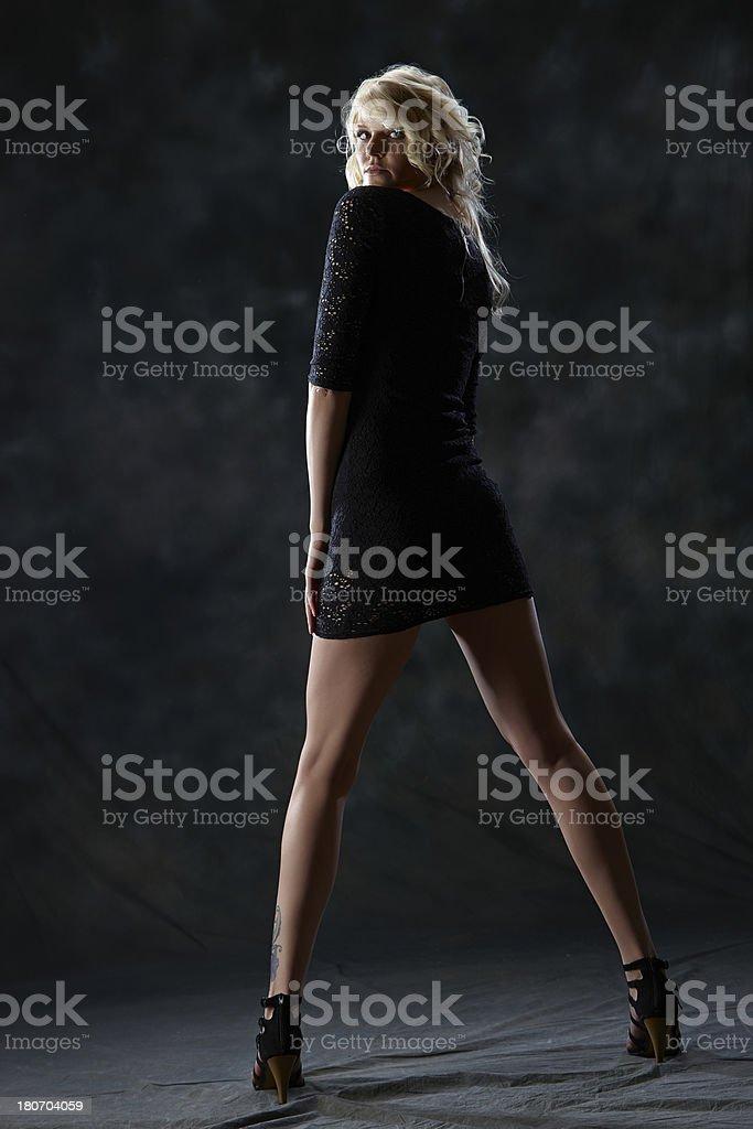 Blonde young woman fashion portrait royalty-free stock photo