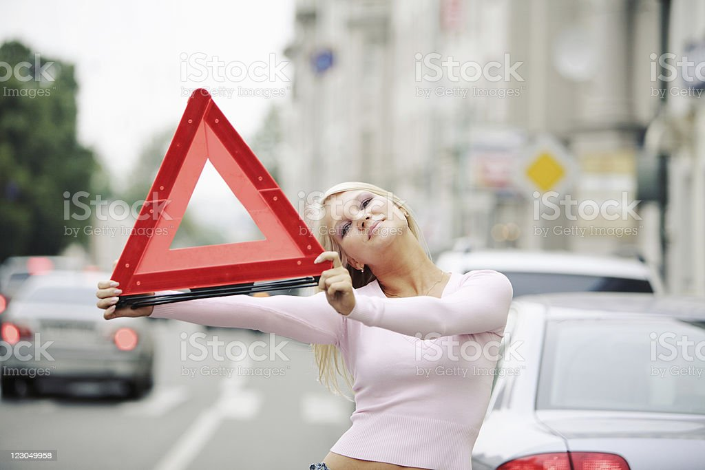 Blondie in trouble royalty-free stock photo
