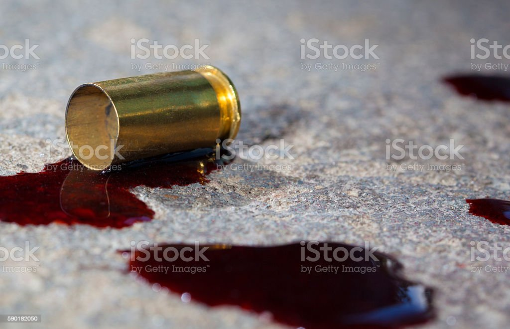 Blood and brass stock photo
