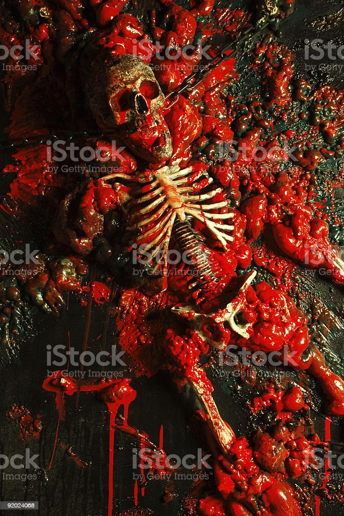 Blood and guts royalty-free stock photo