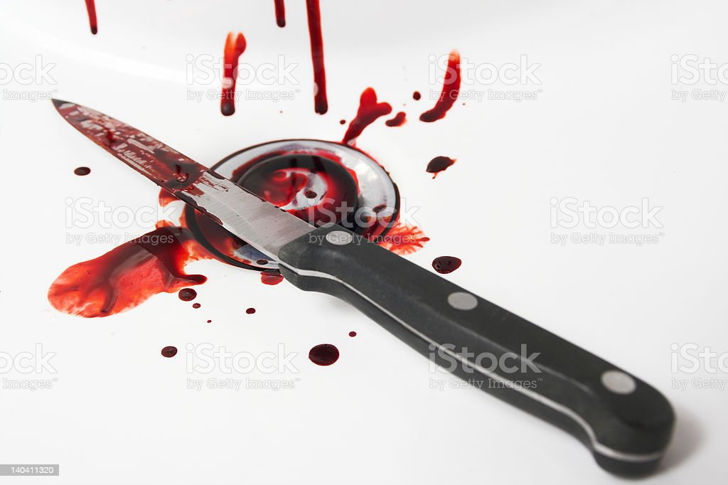 Blood and Knife royalty-free stock photo