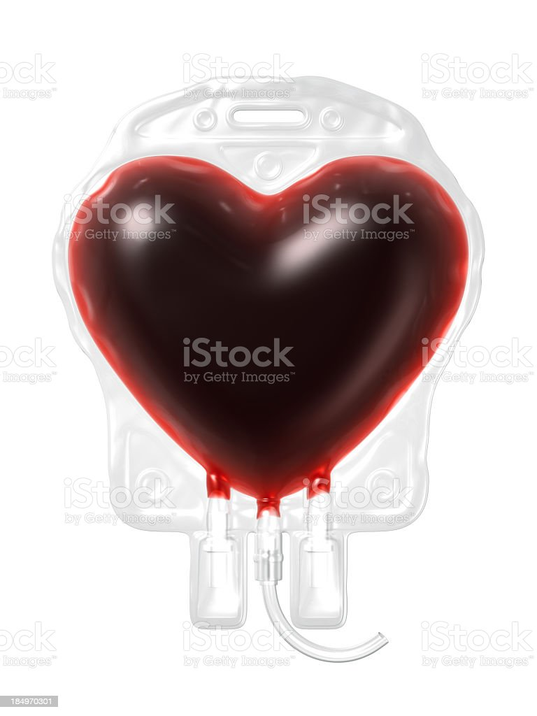 Blood Bag. Donate Concept stock photo