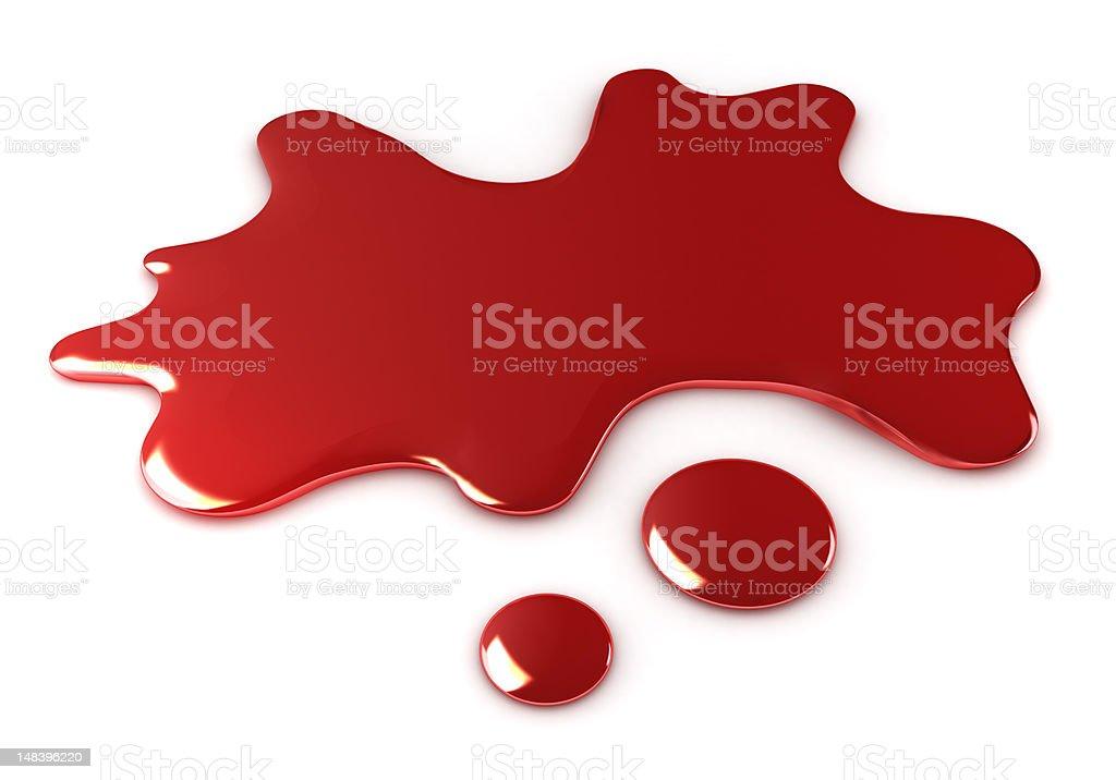 Blood blot royalty-free stock photo