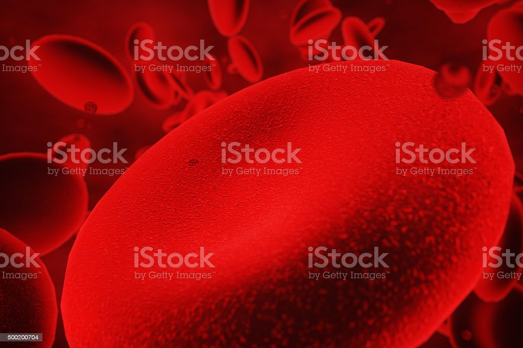 blood cells floating illustration stock photo