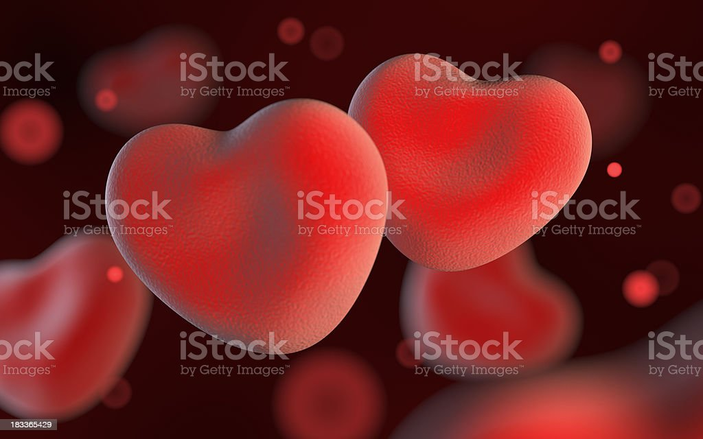 Blood cells of love. Concept. stock photo