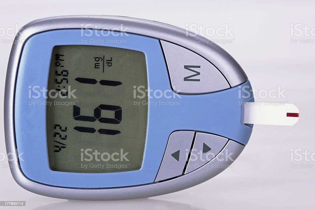 blood check- glucometer stock photo