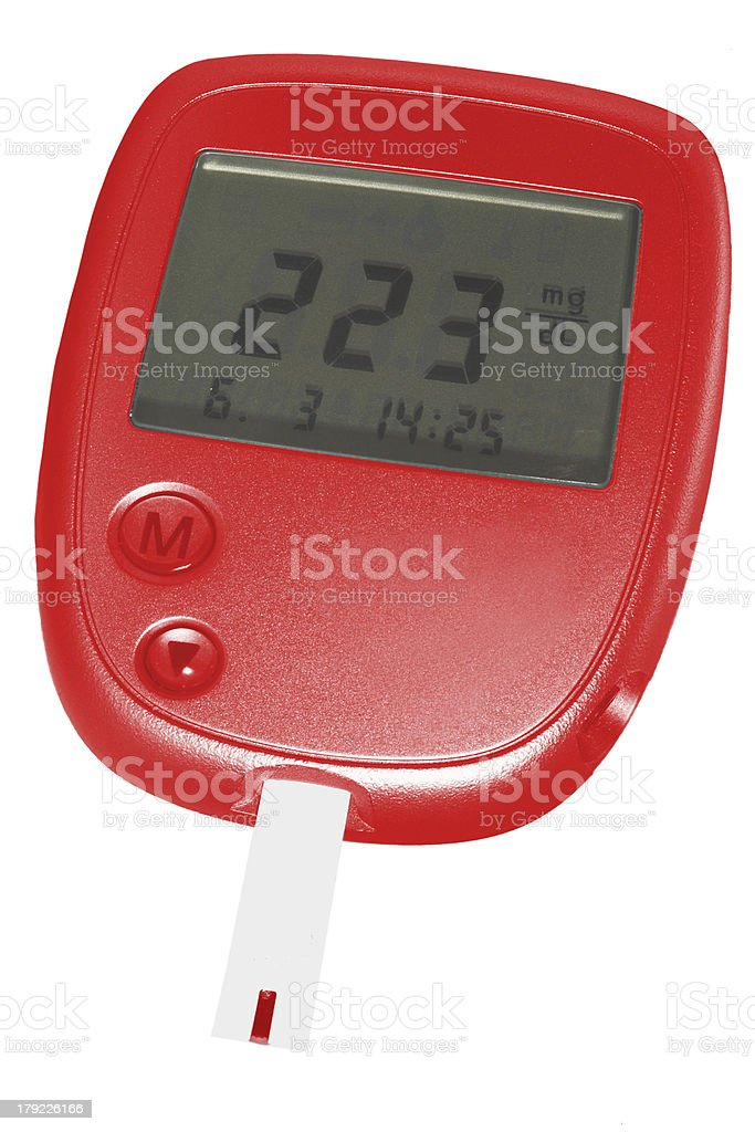 blood check glucometer stock photo