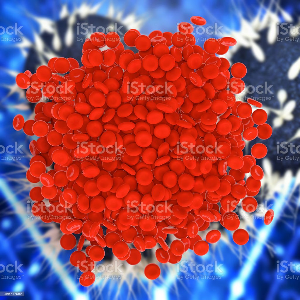 Blood clot - 3d rendered illustration stock photo