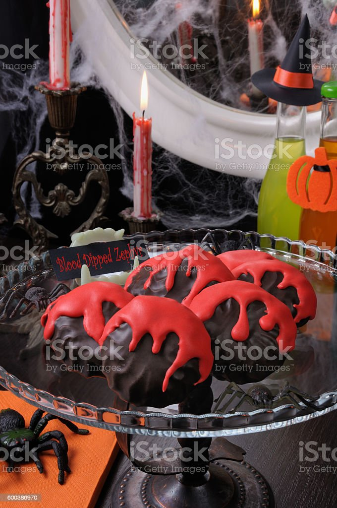 Blood dipped zephyr stock photo
