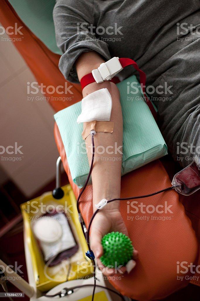Blood donation - closeup royalty-free stock photo