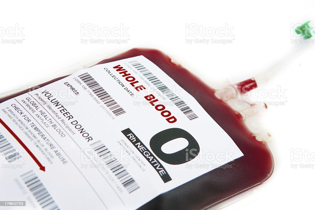 Blood donor royalty-free stock photo