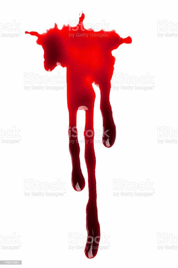 Blood Drips stock photo