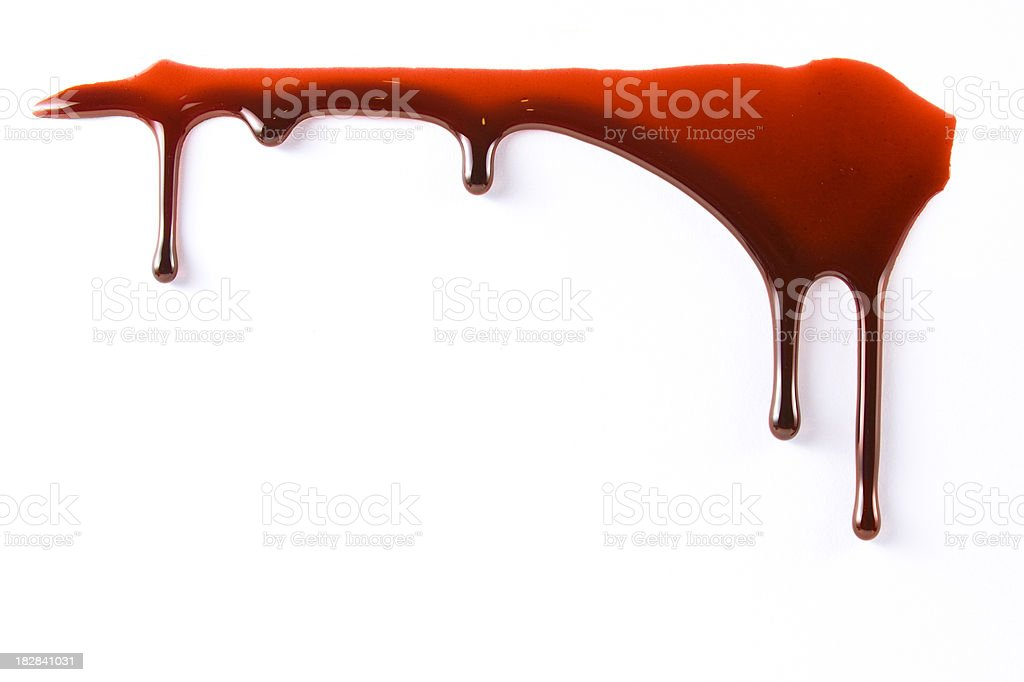 Blood dropping royalty-free stock photo