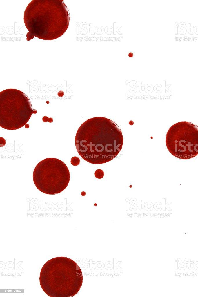 Blood Drops stock photo