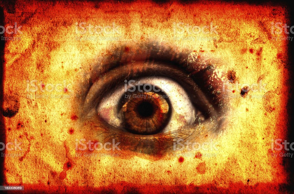 Blood Eye - Mystic Card stock photo