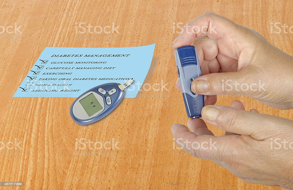 Blood glucose monitor royalty-free stock photo