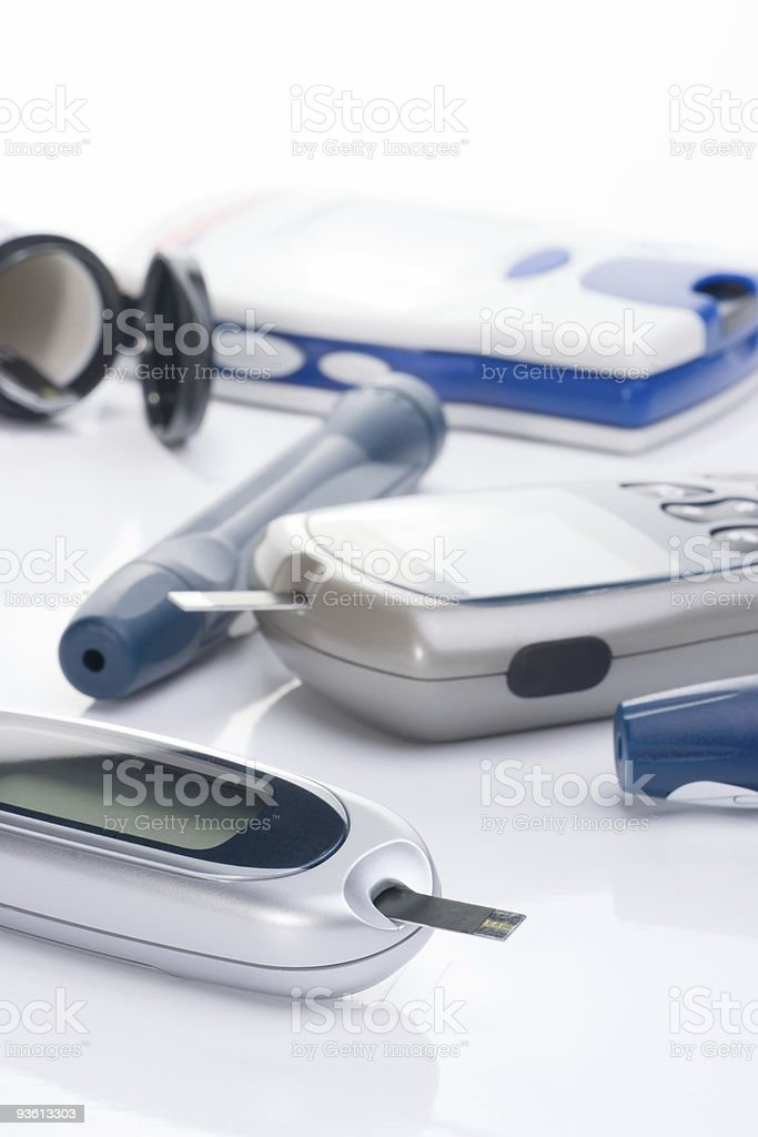 Blood glucose monitoring system royalty-free stock photo