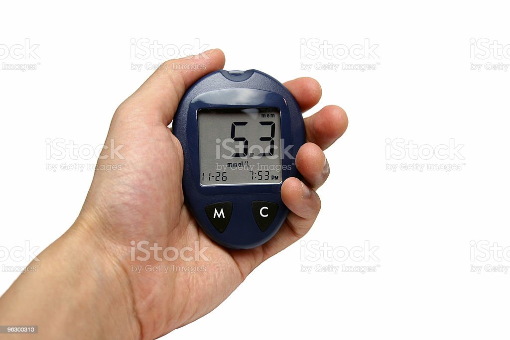 Blood glucose Reference royalty-free stock photo